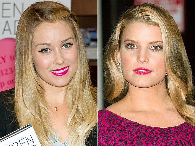 HOT PINK POUTS  photo | Jessica Simpson, Lauren Conrad