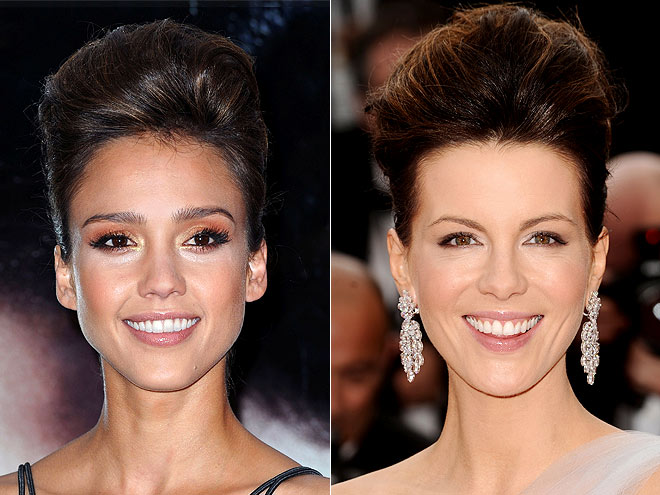 UPSWEPT UPDOS photo | Jessica Alba, Kate Beckinsale
