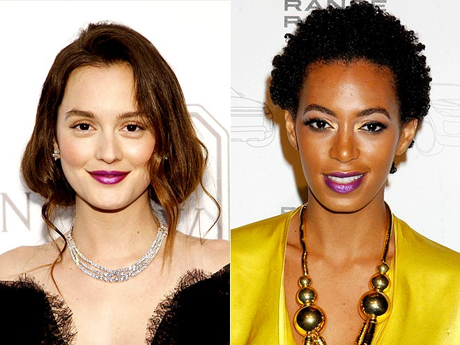 PURPLE LIPS photo | Leighton Meester, Solange Knowles