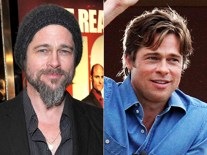 BRAD&#39;S DISAPPEARING BEARD photo | Brad Pitt
