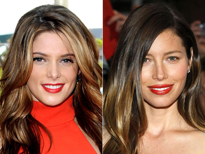 SCARLET LIPS photo | Ashley Greene, Jessica Biel