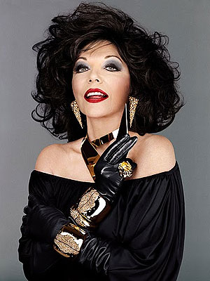joan collins twitter. New Model Joan Collins