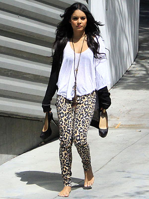 Would You Wear Leopard-Print Leggings Like Vanessa Hudgens? Limelight