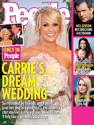 And in the case of Carrie Underwood 39s ultimate story book wedding