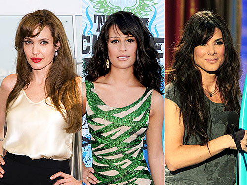 Angelina Jolie Bangs Haircut. nicole richie side swept angs