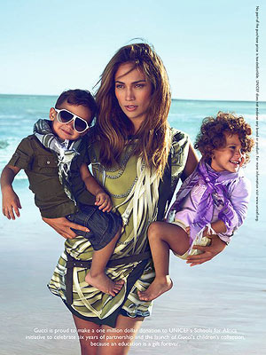 jennifer lopez kids gucci ad. Jennifer Lopez and Her Twins