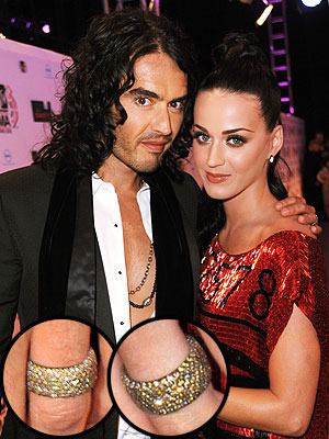 Katy Perry & Russell Brand Debut Wedding Rings