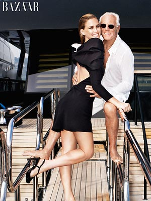 Bar Rafaeli and Giorgio Armani