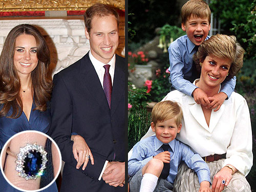 William Gives Kate Diana's Ring