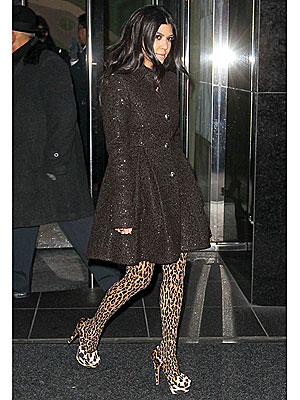 Kourtney Kardashian Goes Wild for Leopard Prints