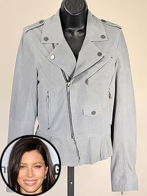Bid On It: Jessica Biel's William Rast Motorcycle Jacket
