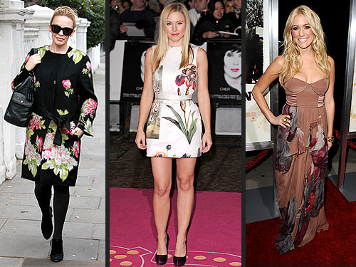 Kristin Cavallari, Kristen Bell and Kylie Minogue Wear Winter Florals