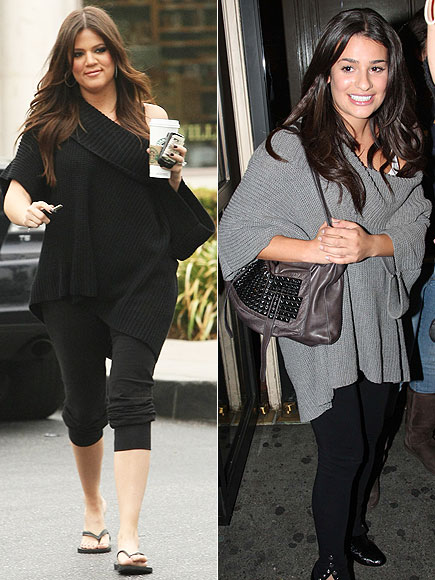 KHLOE VS. LEA photo | Khloe Kardashian, Lea Michele