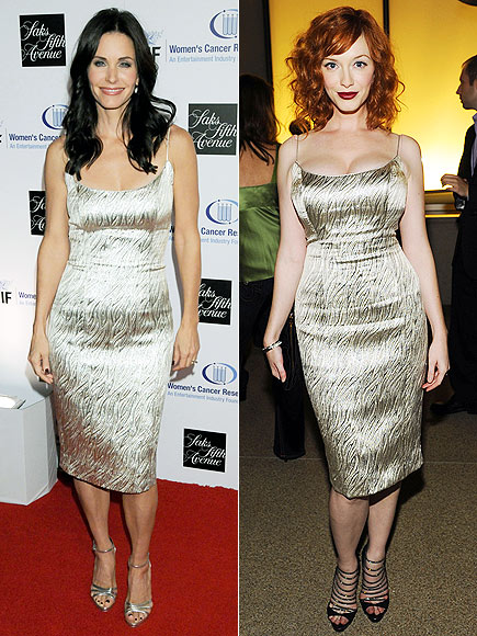 COURTENEY VS. CHRISTINA photo | Christina Hendricks, Courteney Cox