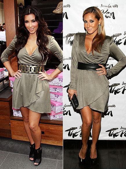 KIM VS. ADRIENNE photo | Adrienne Bailon, Kim Kardashian