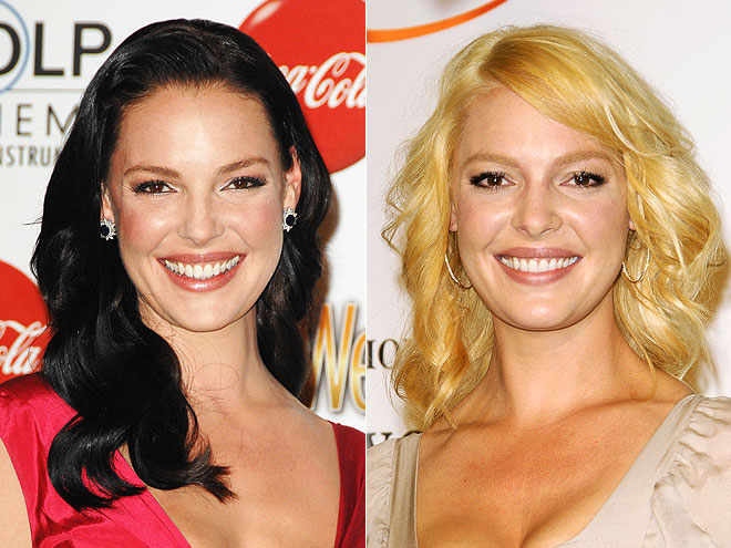 Katherine Heigl Brunette to Blonde Makeover