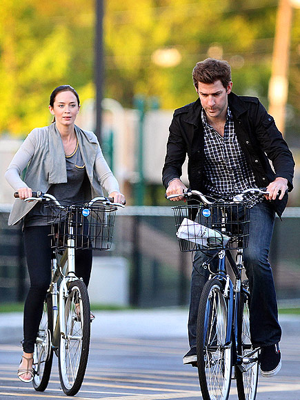 BIKE RIDE photo | Emily Blunt, John Krasinski