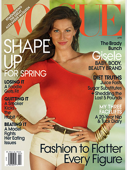 KARATE-CHOP THE BABY-WEIGHT photo | Gisele Bundchen