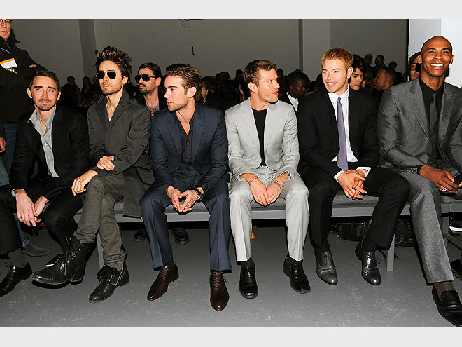 CALVIN KLEIN MENS FRONT ROW photo | Chace Crawford, Jared Leto, Kellan Lutz, Ryan Phillippe