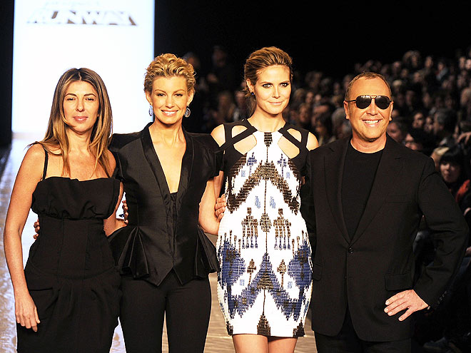 NINA, HEIDI, FAITH & MICHAEL photo | Faith Hill, Heidi Klum, Michael Kors