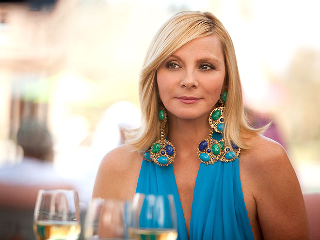 TURQUOISE STATEMENT EARRINGS photo | Kim Cattrall
