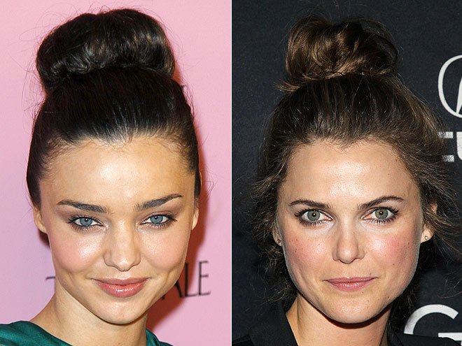 HIGH CHIGNONS photo | Keri Russell, Miranda Kerr