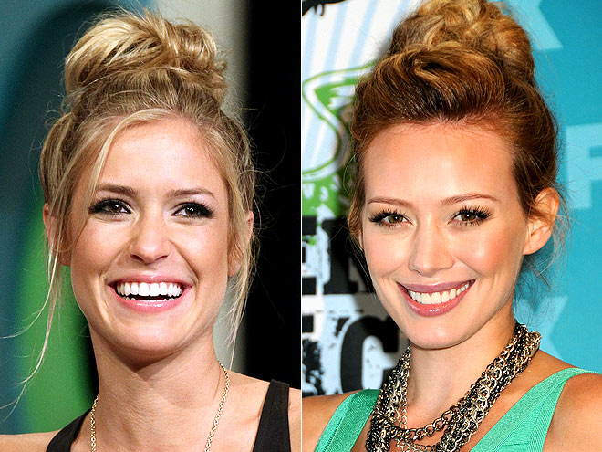 TEXTURED TOP KNOT photo | Hilary Duff, Kristin Cavallari