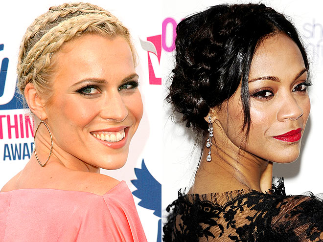 BRAIDED UPDOS photo | Natasha Bedingfield, Zoe Saldana
