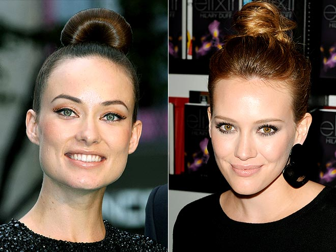 CROWNING CHIGNON  photo | Hilary Duff, Olivia Wilde