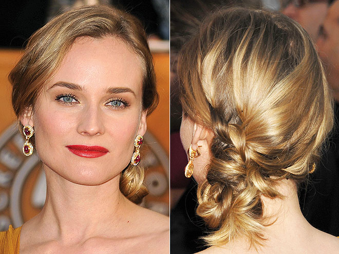DIANE'S BRAIDED CHIGNON photo | Diane Kruger