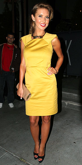 Audrina Patridge (The Hills) - yellow dress