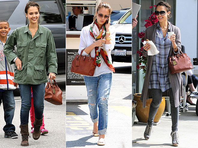 RALPH LAUREN COLLECTION SATCHEL photo | Jessica Alba