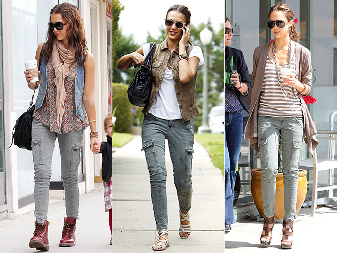 J BRAND CARGO PANTS photo | Jessica Alba