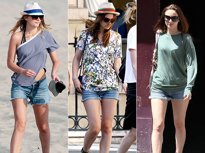 ANLO JEAN SHORTS photo | Leighton Meester