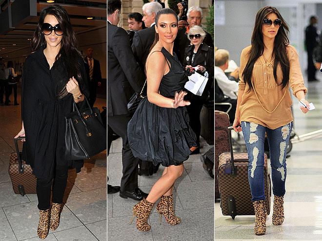 CHRISTIAN LOUBOUTIN LEOPARD BOOTS photo | Kim Kardashian