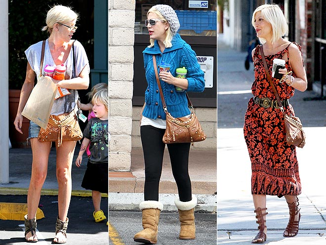 TREESJE STUDDED SATCHEL photo | Tori Spelling