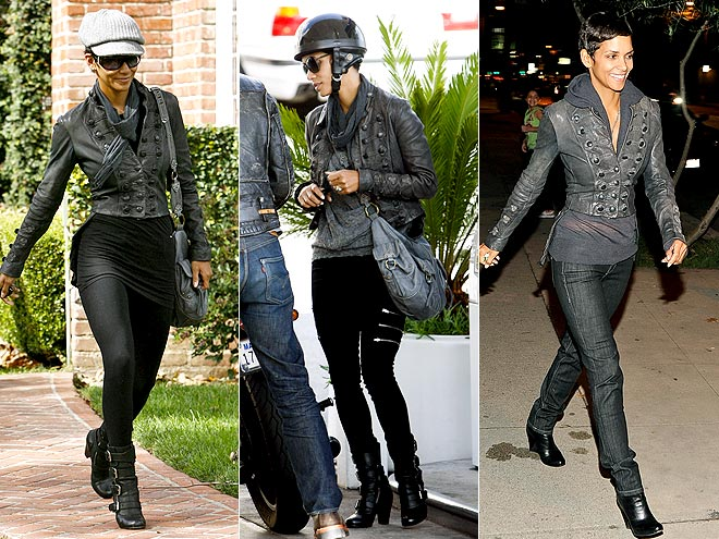 ALL SAINTS LEATHER JACKET photo | Halle Berry