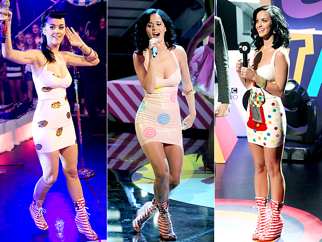 CHANEL STRIPED WEDGES photo | Katy Perry