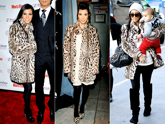LEOPARD COAT photo | Kourtney Kardashian