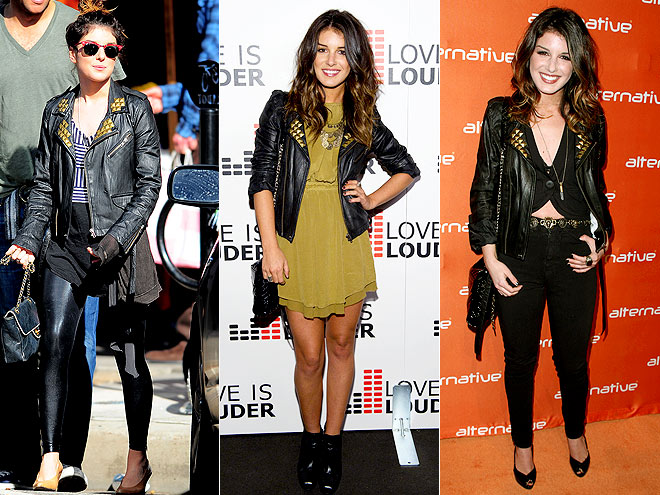 RELIGION STUDDED JACKET photo | Shenae Grimes