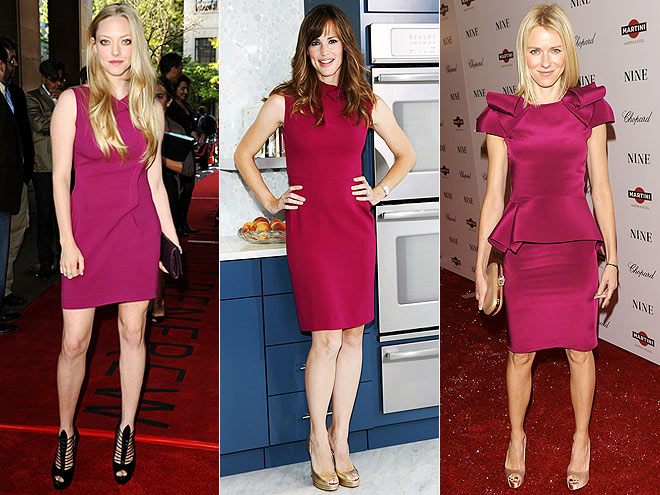 RASPBERRY SHEATHS  photo | Amanda Seyfried, Jennifer Garner, Naomi Watts