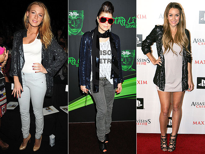 SEQUINED BLAZERS  photo | Blake Lively, Fergie, Lauren Conrad