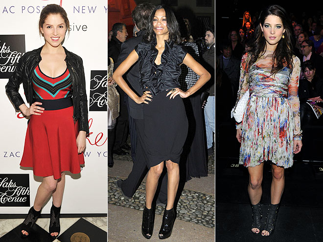 PEEP-TOE BOOTIES photo | Anna Kendrick, Ashley Greene, Zoe Saldana