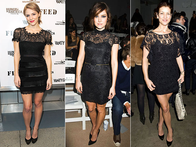 BLACK LACE DRESSES  photo | Jessica Stroup, Kate Walsh, Katharine McPhee