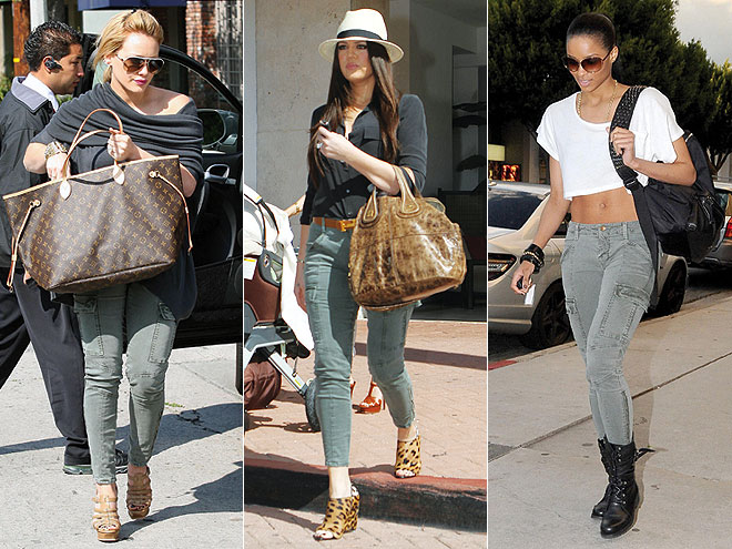 SKINNY CARGO PANTS photo | Ciara, Hilary Duff, Khloe Kardashian
