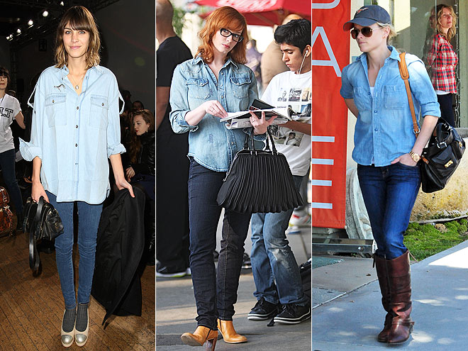 CHAMBRAY SHIRTS AND DARK JEANS photo | Alexa Chung, Christina Hendricks, Reese Witherspoon
