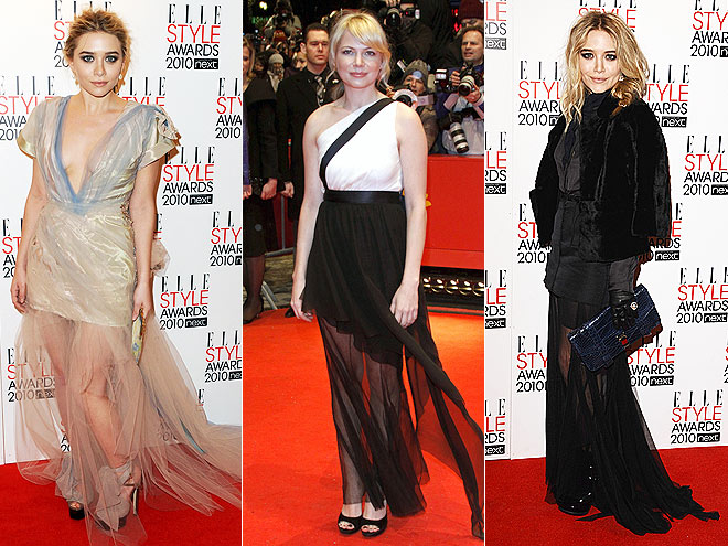 SHEER GOWNS photo | Ashley Olsen, Mary-Kate Olsen, Michelle Williams