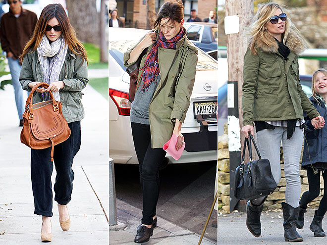 ARMY JACKETS photo | Kate Moss, Katie Holmes, Rachel Bilson