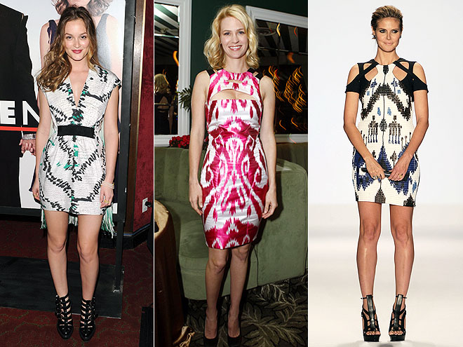 IKAT DRESSES photo | Heidi Klum, January Jones, Leighton Meester