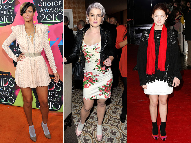SOCKS WITH PUMPS  photo | Bonnie Wright, Kelly Osbourne, Rihanna